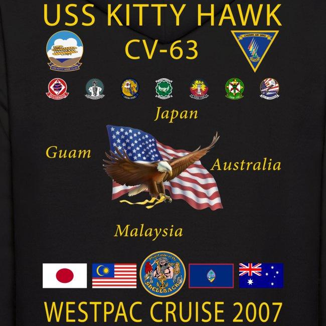 USS KITTY HAWK CV-63 2007 CRUISE HOODIE