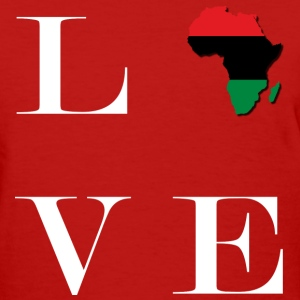 LocStar Revolution Love Africa! - Women's T-Shirt