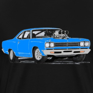 1969 Plymouth Roadrunner (Blue) - Men's Premium T-Shirt
