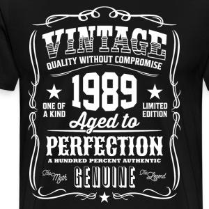Vintage 1989 Aged - 27th Birthday Gift Idea - Men's Premium T-Shirt