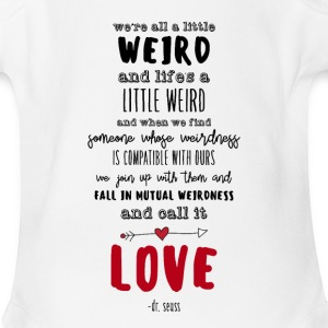 Weird Love - Short Sleeve Baby Bodysuit