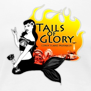 Tails of Glory Mermaids T-shirt - Women's Premium T-Shirt