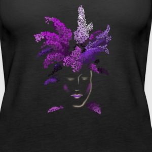 lilac face Tanks - Women's Premium Tank Top