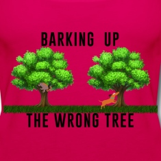 Women's Tank Top Barking up the Wrong Tree
