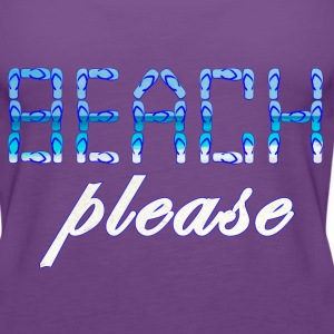 BEACH PLEASE blue - Women's Premium Tank Top