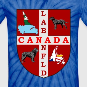 Newfoundland and Labrador Dogs Shield Canada - Unisex Tie Dye T-Shirt