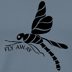 dragonfly fly away black T-Shirts - Men's Premium T-Shirt