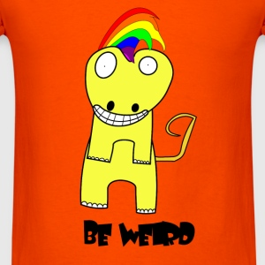 Be Weird Lizard - Men's T-Shirt