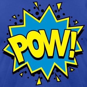POW! Comic Style T-Shirts - Men's T-Shirt by American Apparel