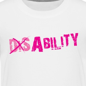 T-Shirt Bailey with Dis-Ability in White (Kids) - Kids' Premium T-Shirt