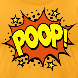 Poop! Comic Style T-Shirts - Men's T-Shirt by American Apparel