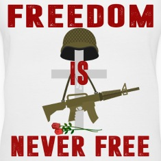 Women V-Neck Freedom is Never Free