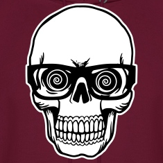 skull with glasses Hoodies