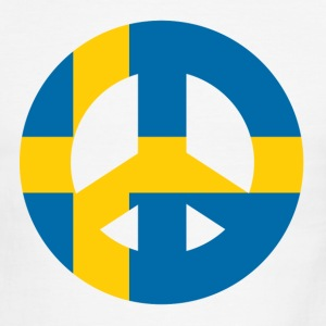Swedish Peace Sign - Men's Ringer T-Shirt