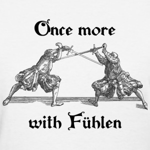 Once more, with Fuhlen women's black print - Women's T-Shirt