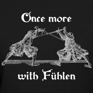 Once more, with Fuhlen women's white print - Women's T-Shirt