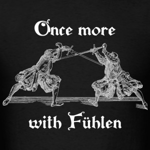Once more, with Fuhlen men's T-shirt white print - Men's T-Shirt