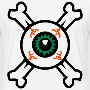 Eyeball and Crossbones by Brian Benson - Fitted Cotton/Poly T-Shirt by Next Level