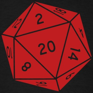 D20 Die T-shirt - Men's T-Shirt