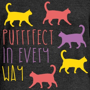 AD Purrfect in every way Long Sleeve Shirts - Women's Wideneck Sweatshirt