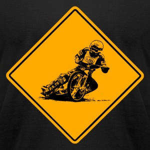Motorcycle Speedway Road Sign T-Shirts - Men's T-Shirt by American Apparel