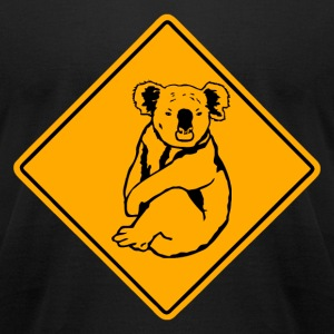 Koala Road Sign T-Shirts - Men's T-Shirt by American Apparel