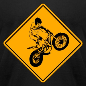 Trial Road Sign T-Shirts - Men's T-Shirt by American Apparel