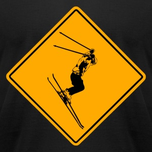 Ski Alpine Road Sign T-Shirts - Men's T-Shirt by American Apparel