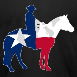 Texas Cowboy Flag T-Shirts - Men's T-Shirt by American Apparel