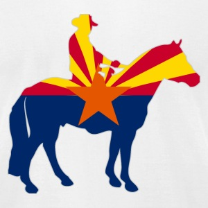 Arizona Cowboy Flag T-Shirts - Men's T-Shirt by American Apparel