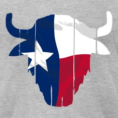 Texas Buffalo Skull Flag T-Shirts