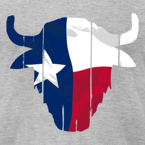 Texas Buffalo Skull Flag T-Shirts - Men's T-Shirt by American Apparel