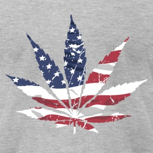 USA Cannabis Flag T-Shirts - Men's T-Shirt by American Apparel