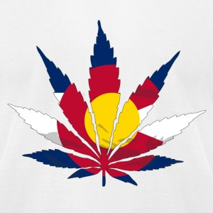 Colorado Cannabis Flag T-Shirts - Men's T-Shirt by American Apparel