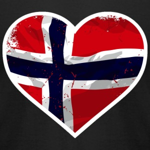 I Love Norway  - Heart Vintage Flag T-Shirts - Men's T-Shirt by American Apparel