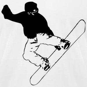 Snowbording T-Shirts - Men's T-Shirt by American Apparel