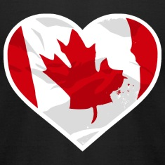 I Love Canada  - Heart Vintage Flag T-Shirts