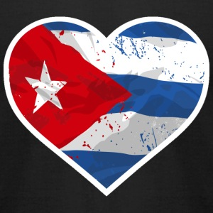 I Love Cuba  - Heart Vintage Flag T-Shirts - Men's T-Shirt by American Apparel