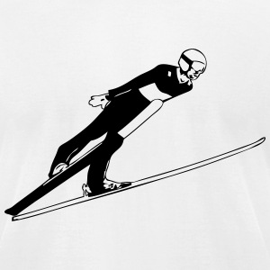 Ski Jumping - Ski Jumper T-Shirts - Men's T-Shirt by American Apparel