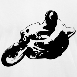 Motorcycle Racer T-Shirts - Men's T-Shirt by American Apparel