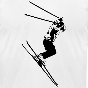 Ski Alpine T-Shirts - Men's T-Shirt by American Apparel