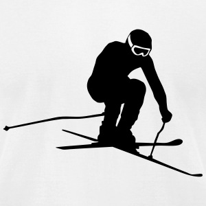 Alpine Ski Racer T-Shirts - Men's T-Shirt by American Apparel