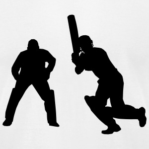 Cricket Players T-Shirts - Men's T-Shirt by American Apparel