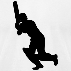 Cricket Player T-Shirts - Men's T-Shirt by American Apparel