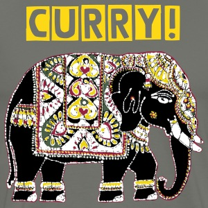 I love curry - indian elephant - Men's Premium T-Shirt