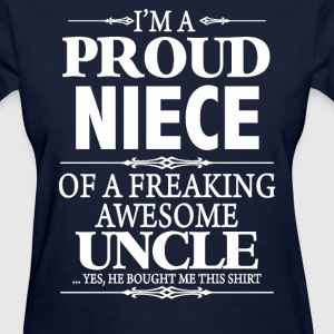 I'm A Proud Aunt Of A Freaking Awesome Uncle - Women's T-Shirt
