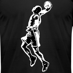 Basketball T-Shirts - Men's T-Shirt by American Apparel