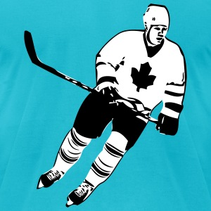Canadian Hockey Player  T-Shirts - Men's T-Shirt by American Apparel