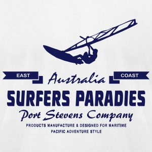 Surfers Paradies -  Windsurfing - Windsurfer T-Shirts - Men's T-Shirt by American Apparel