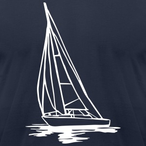 Sailingboat T-Shirts - Men's T-Shirt by American Apparel